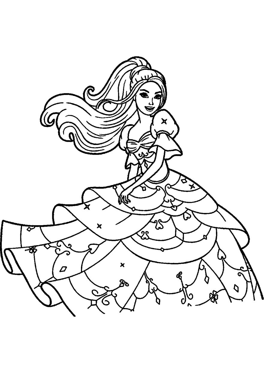 Бесплатно раскраска для девочек 6 лет