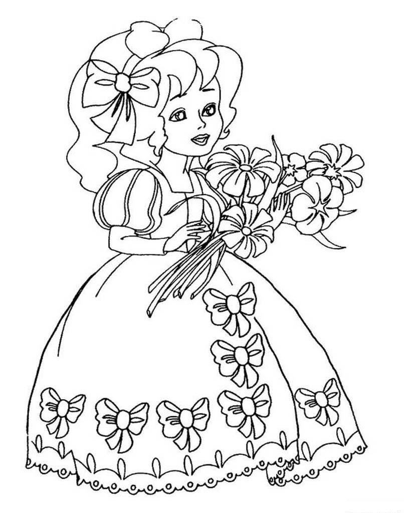 Раскраска для девочки 6 лет, скачать и распечатать бесплатно