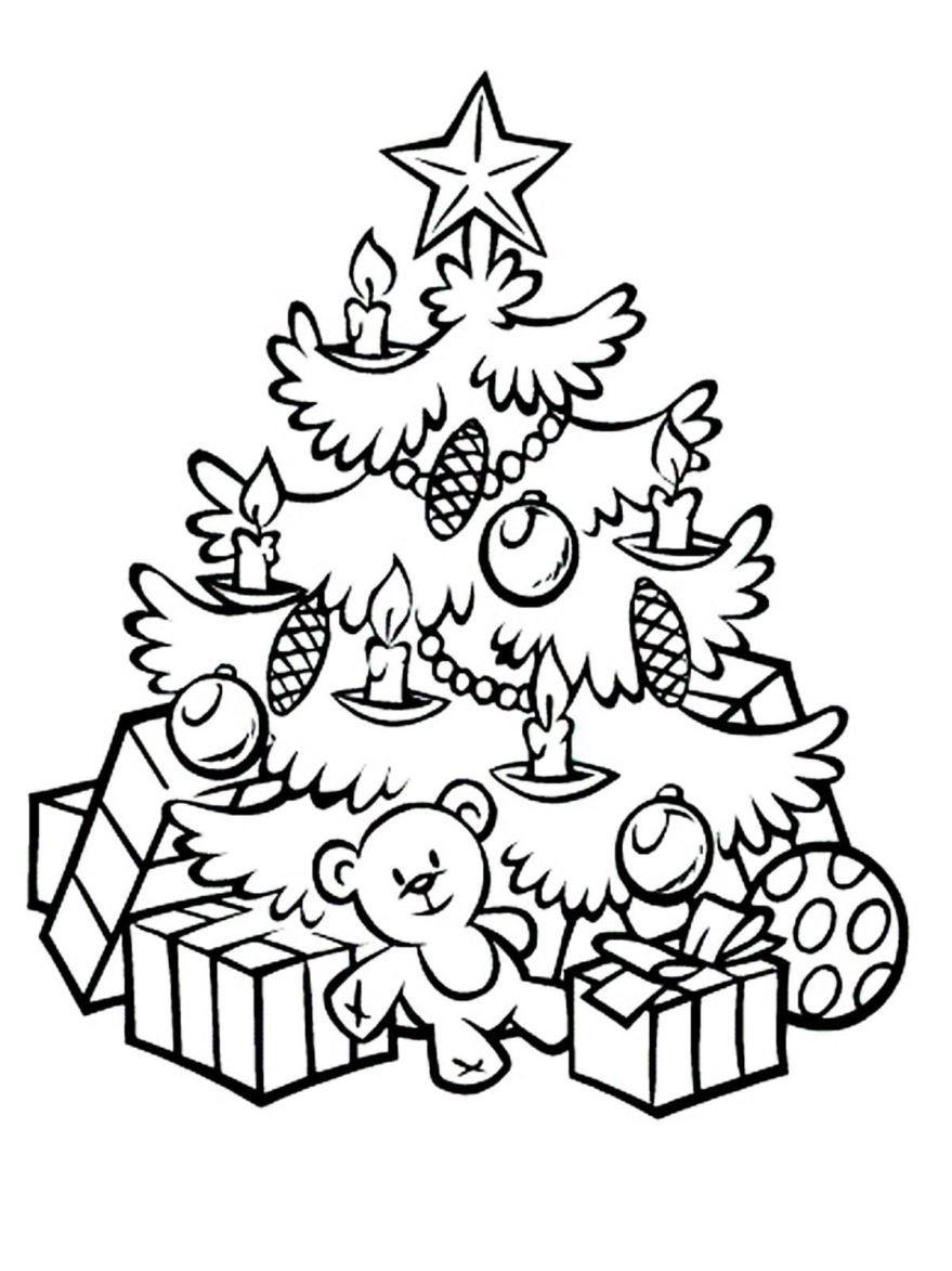Новогодняя раскраска для девочки 7 лет, распечатать бесплатно