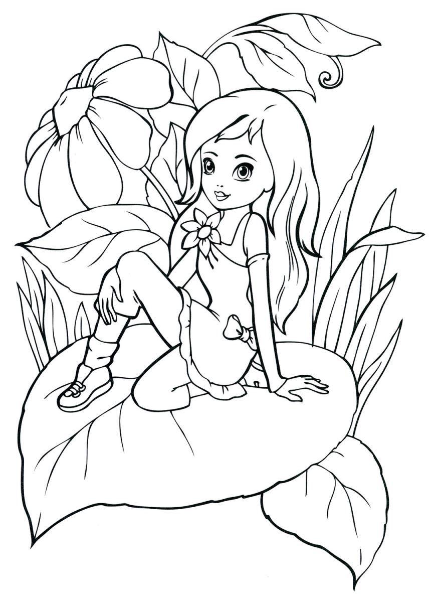 Раскраска для девочки 7 лет, скачать и распечатать бесплатно