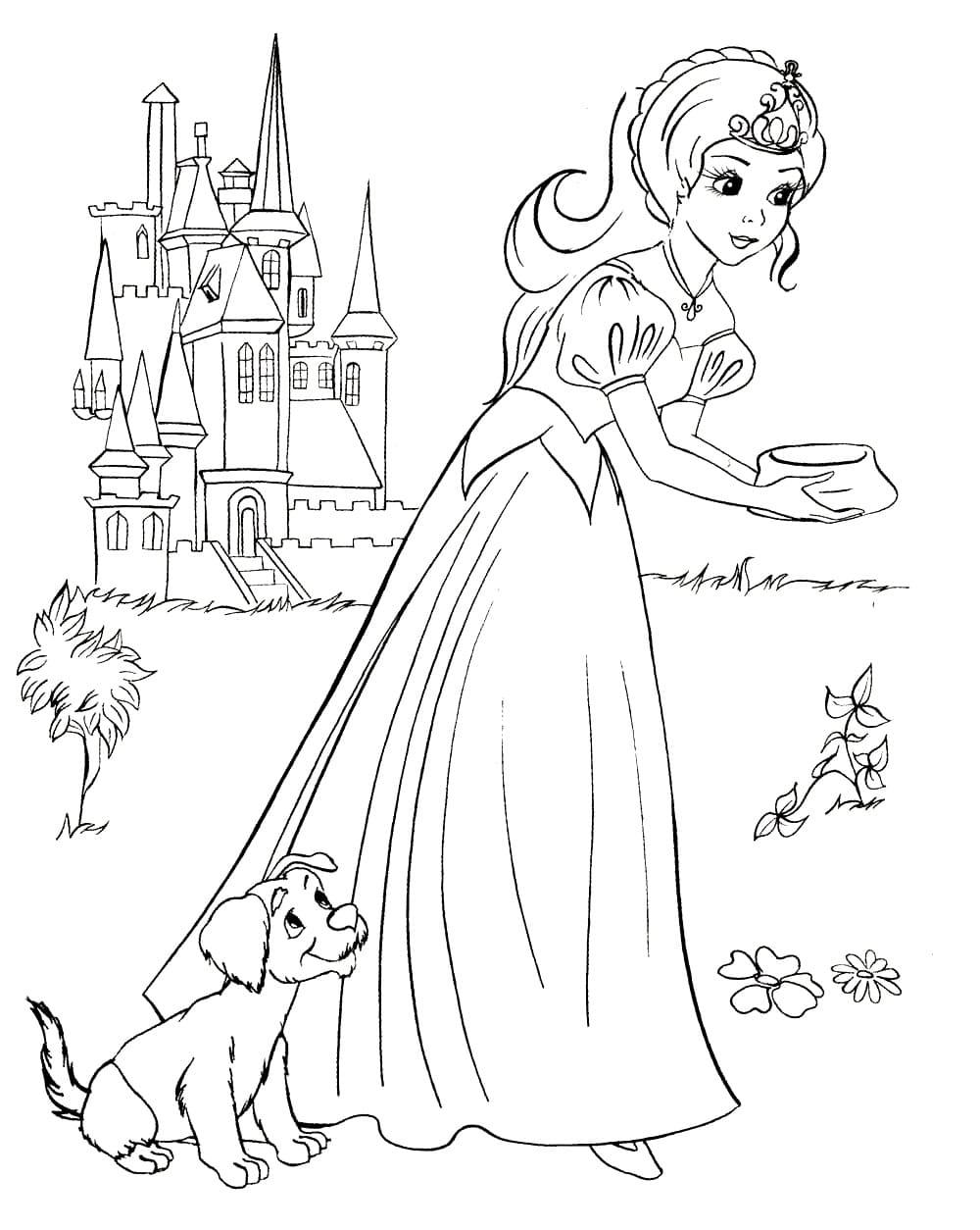 Раскраски для девочек 8 лет - сказки
