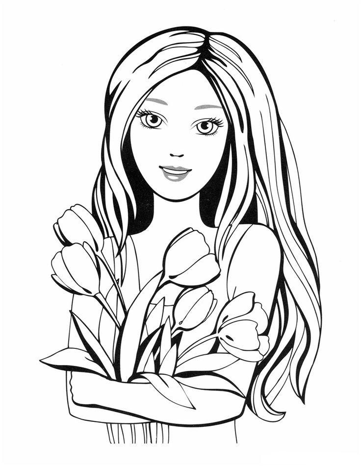 Раскраска для девочек 8 лет, бесплатно