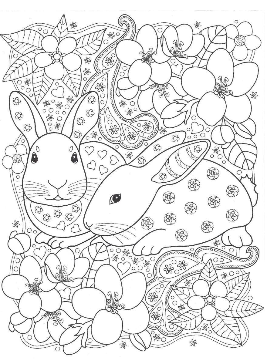 Раскраска для девочек 9 лет - животные