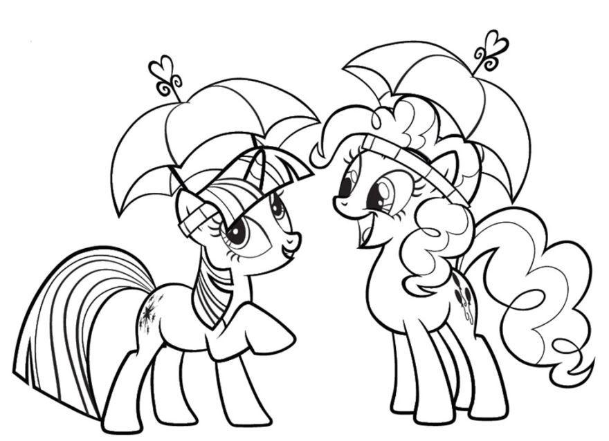 Раскраска для девочек 9 лет - пони