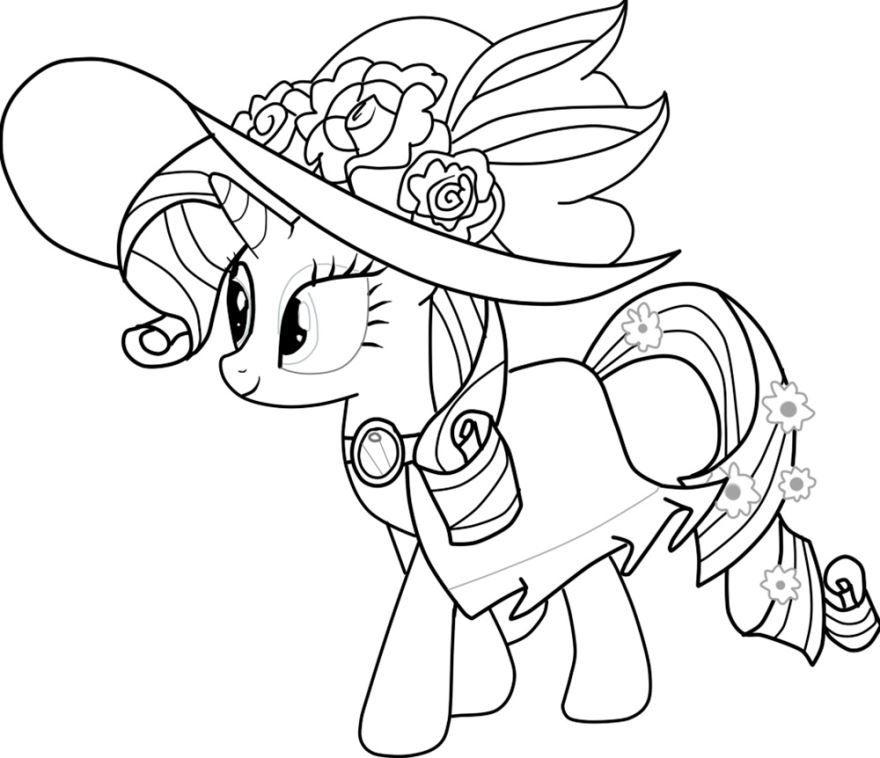 Раскраска для девочек 9 лет - пони, распечатать бесплатно
