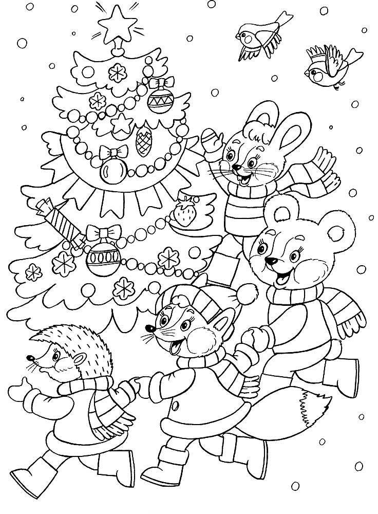 Новогодние раскраски для девочек 9 лет, распечатать бесплатно