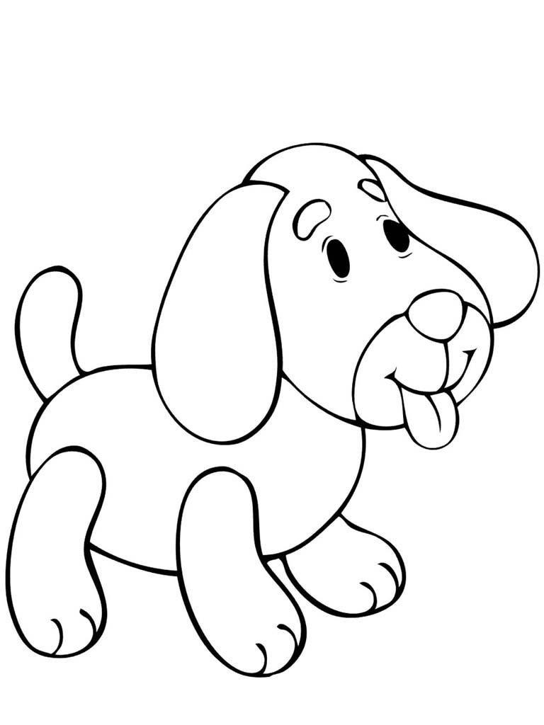 Раскраска для мальчиков 2 лет - собака