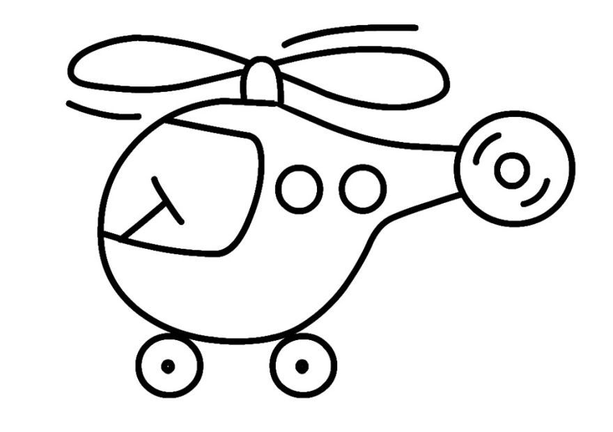 Легкая раскраска для мальчика 2 лет, распечатать бесплатно