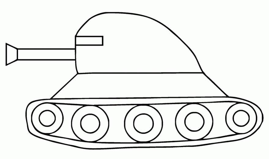 Раскраска для мальчиков 3 лет - танк
