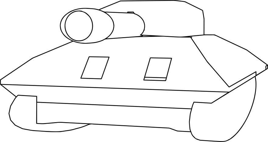 Скачать бесплатно раскраску для мальчика 3 лет - танк