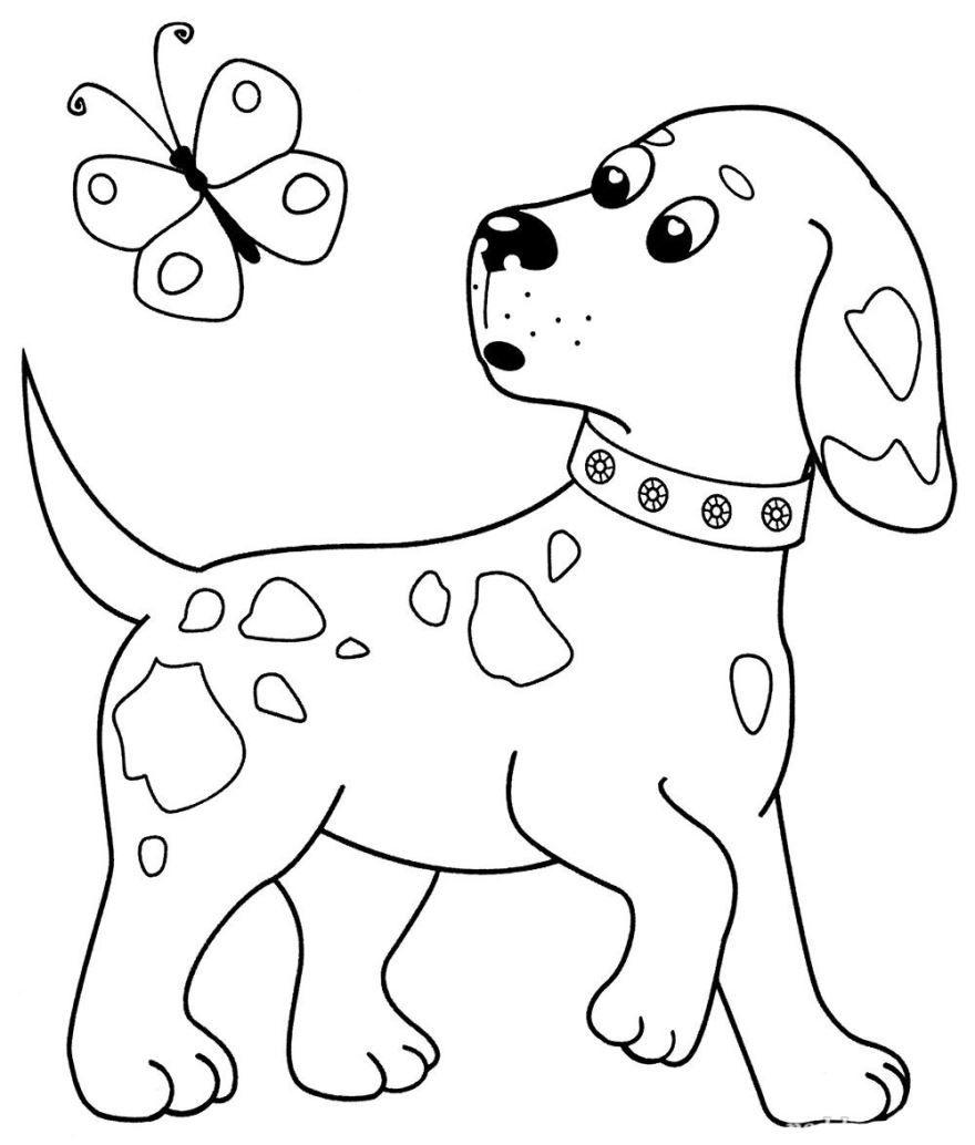 Раскраска для мальчиков 4 лет - собака
