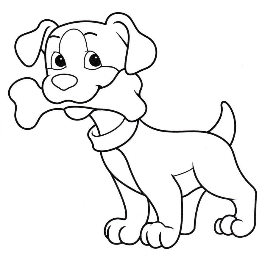 Скачать бесплатно раскраску для мальчика 4 лет - собака