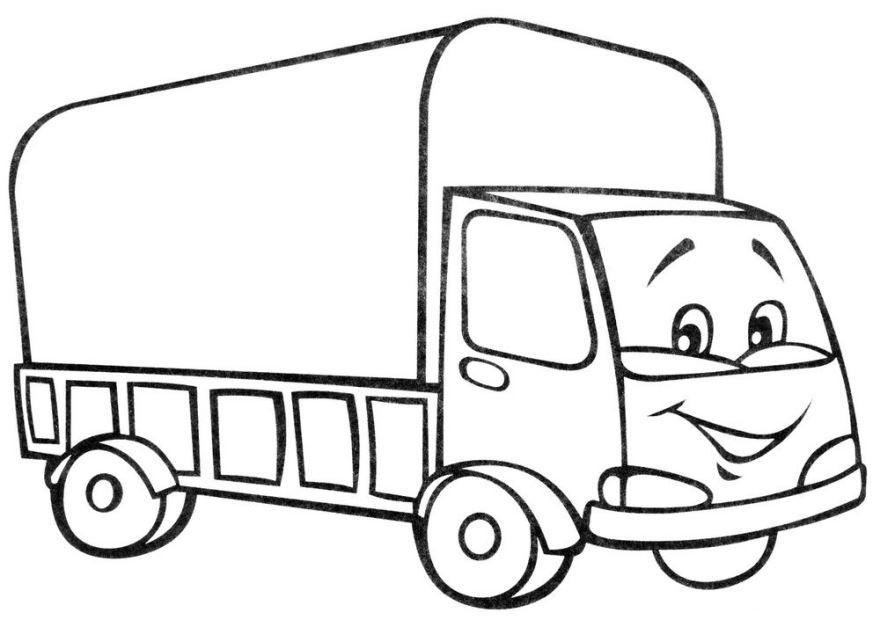 Раскраска для мальчиков 4 лет - машина