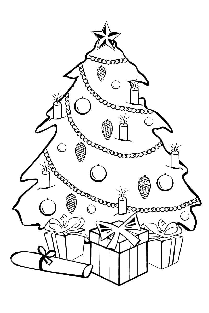 Новогодняя раскраска для мальчика 4 лет, распечатать бесплатно