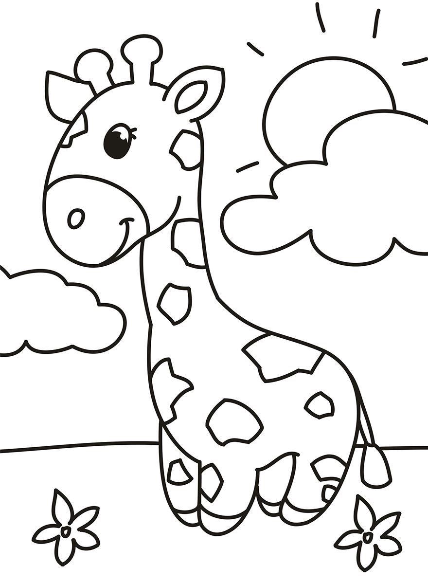 Раскраска для мальчиков 4 лет - животные