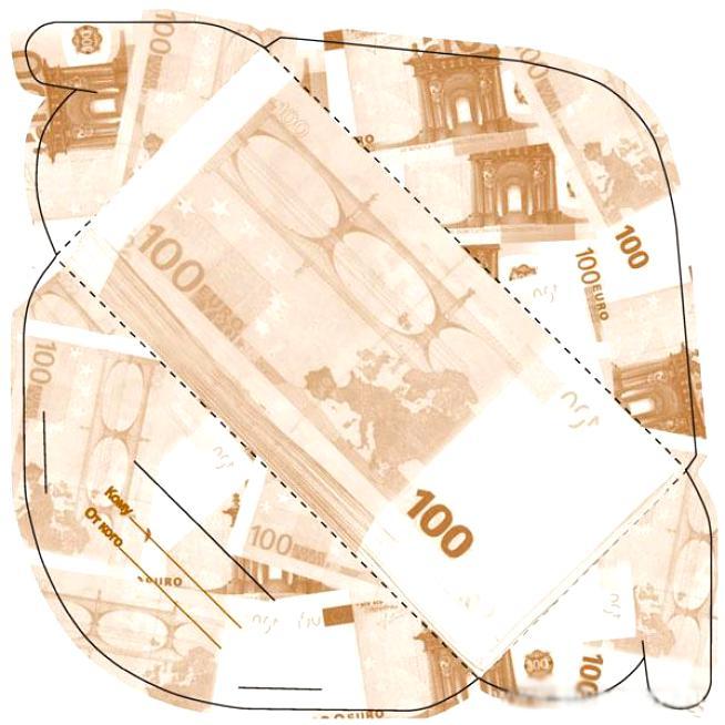 Конверт для денег распечатать