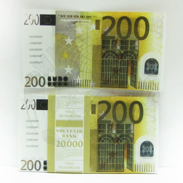 Распечатать настоящие деньги для игры - 200 евро