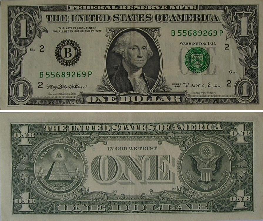 Распечатать деньги - 1 доллар