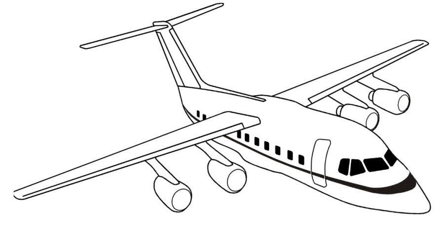 Раскраска для мальчиков 5 лет - самолет