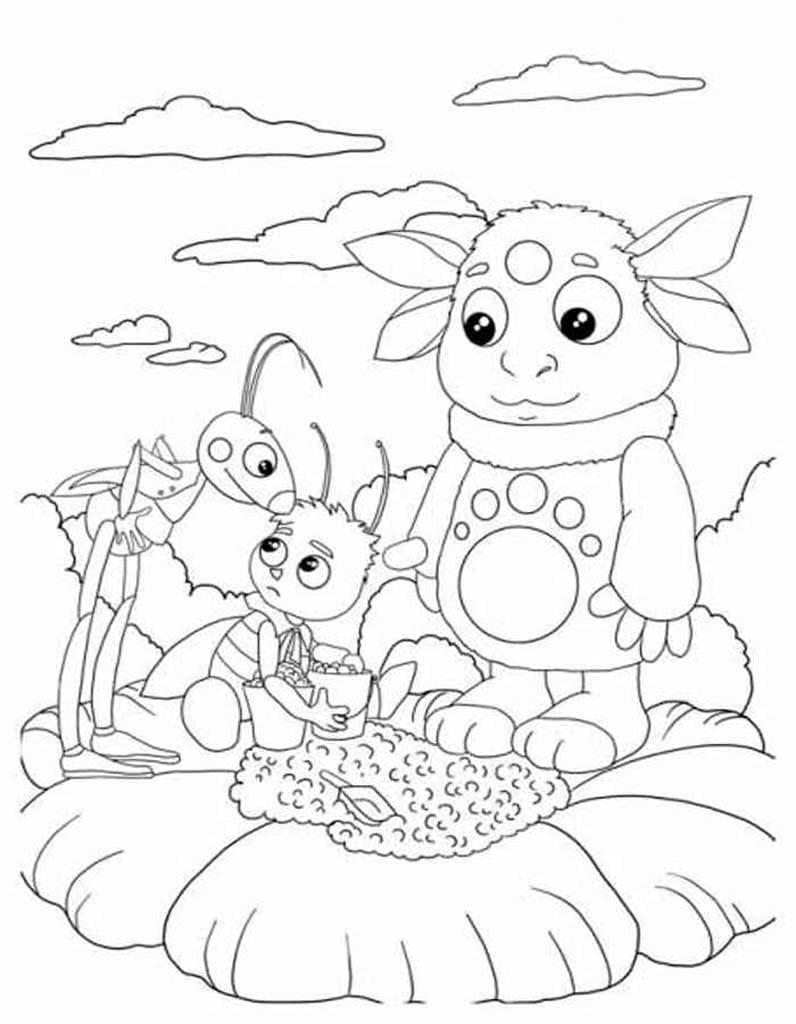 Раскраска для мальчиков 5 лет - Лунтик