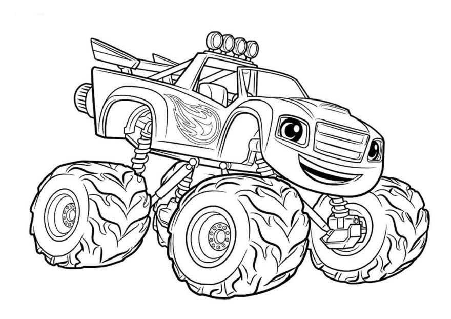 Раскраска для мальчиков 5 лет - машины