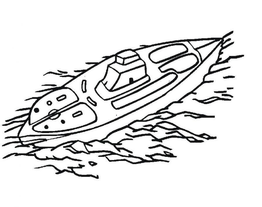 Раскраска для мальчиков 6 лет - лодка