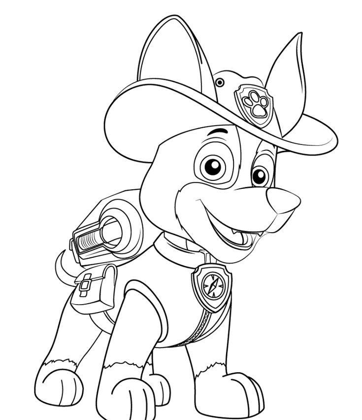 Раскраска для мальчиков 6 лет - патруль