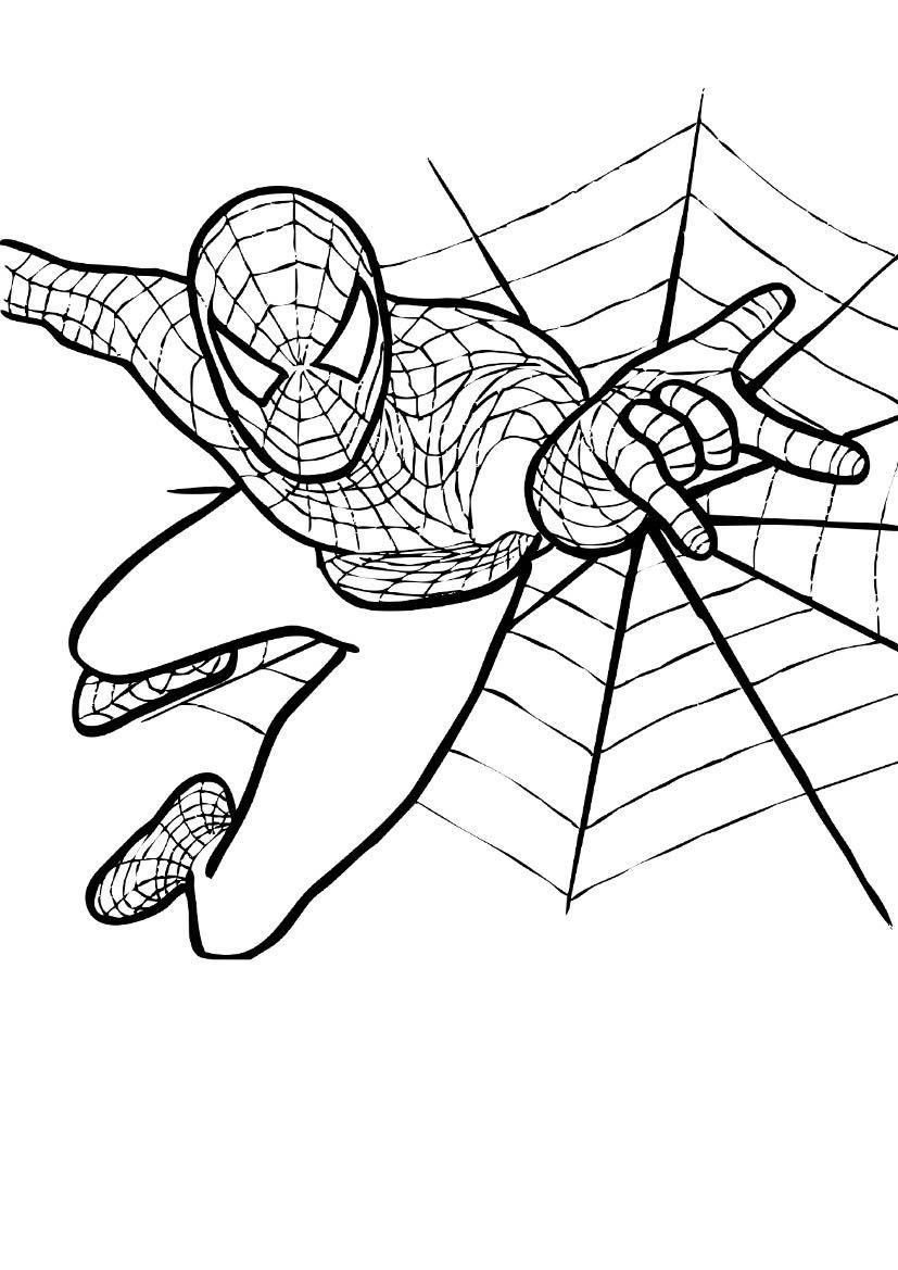 Раскраска для мальчиков 6 лет - человек-паук