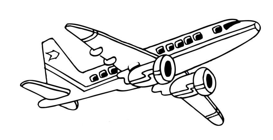Раскраска для мальчиков 6 лет - самолет