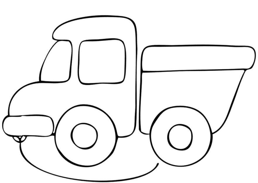 Раскраска машина для детей 2-3 лет