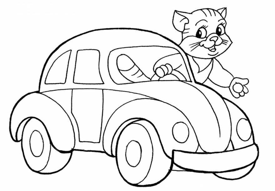 Легкие раскраски для мальчиков машины