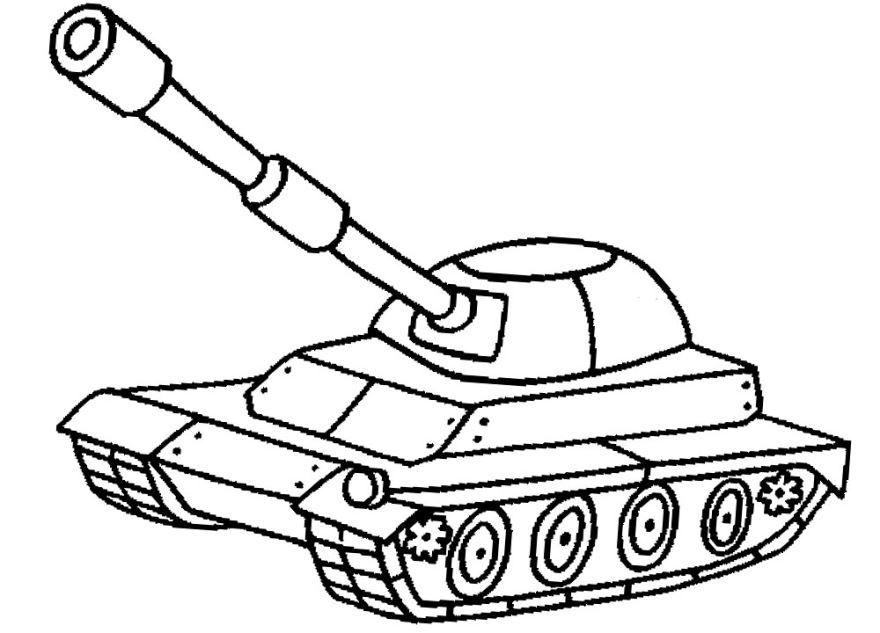 Картинка танк раскраска для детей