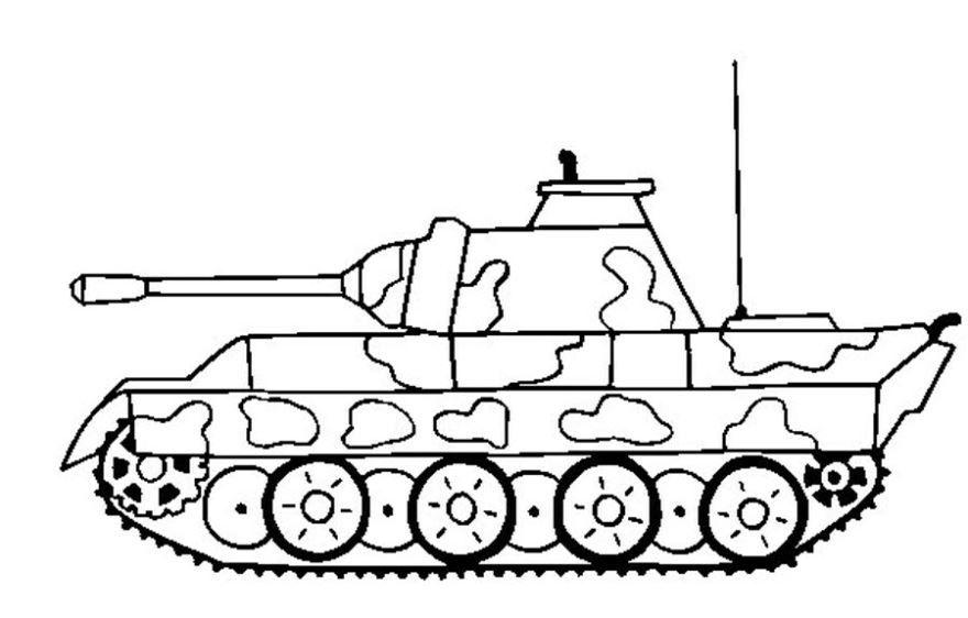 Раскраски для мальчиков - танки