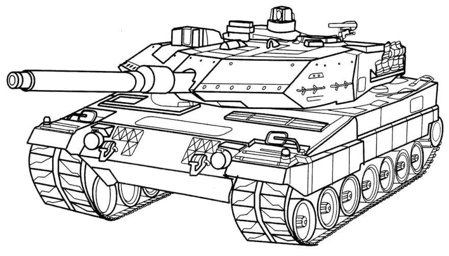 Раскраска для мальчиков танк, распечатать бесплатно