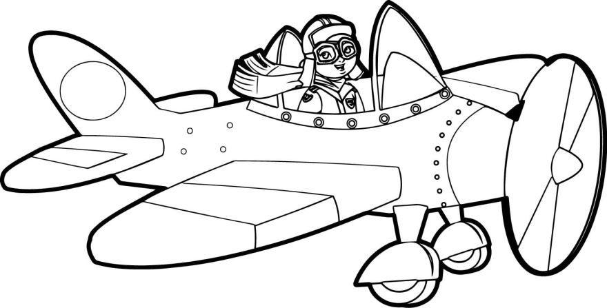 Раскраска для мальчиков - самолет