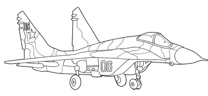 Раскраска самолет, скачать и распечатать бесплатно