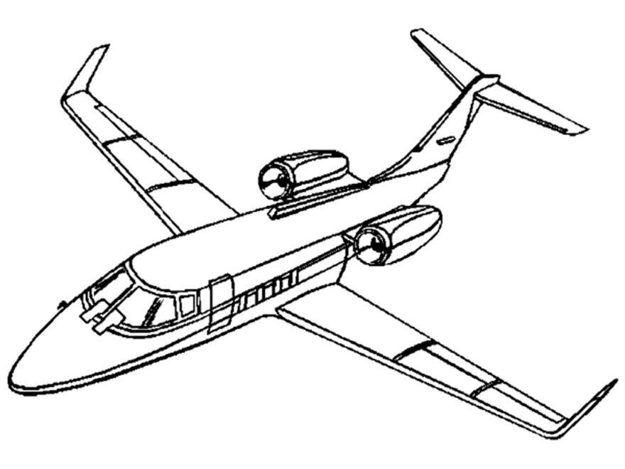 Раскраска самолет, распечатать онлайн бесплатно