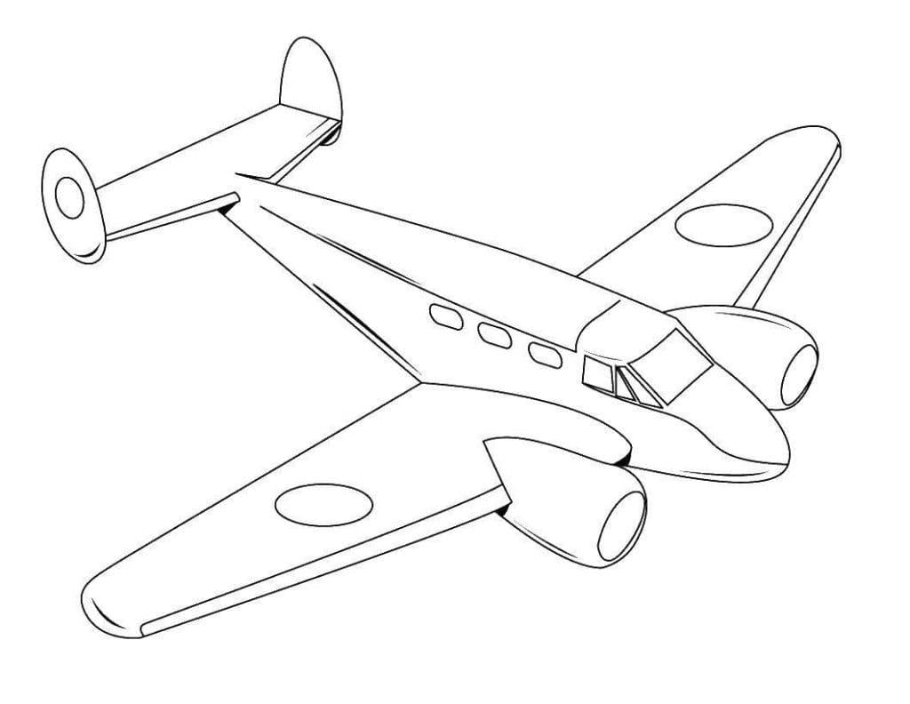 Раскраска самолет для детей