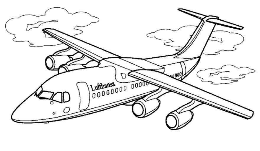 Раскраска самолеты, распечатать