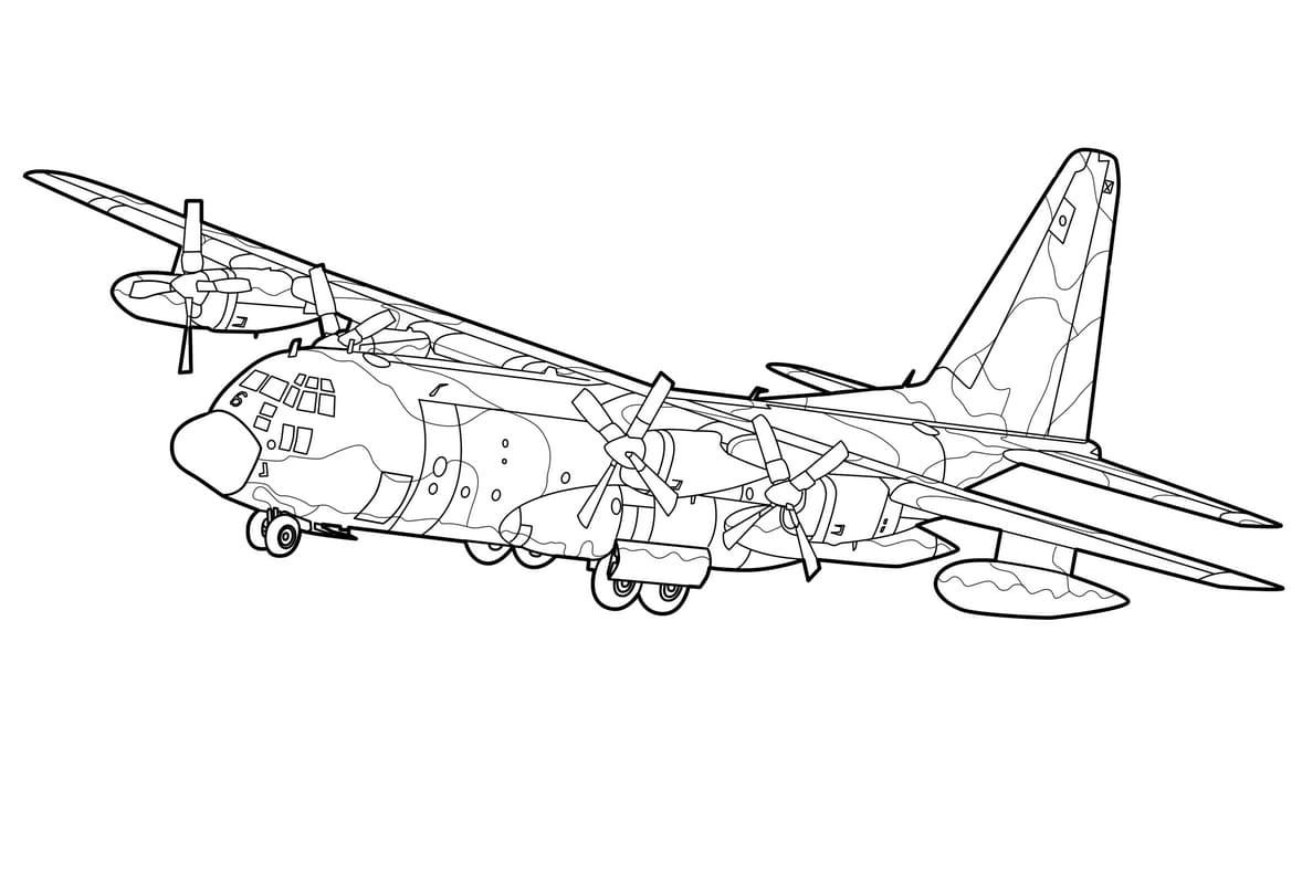 Самолет картинка раскраска, для мальчиков
