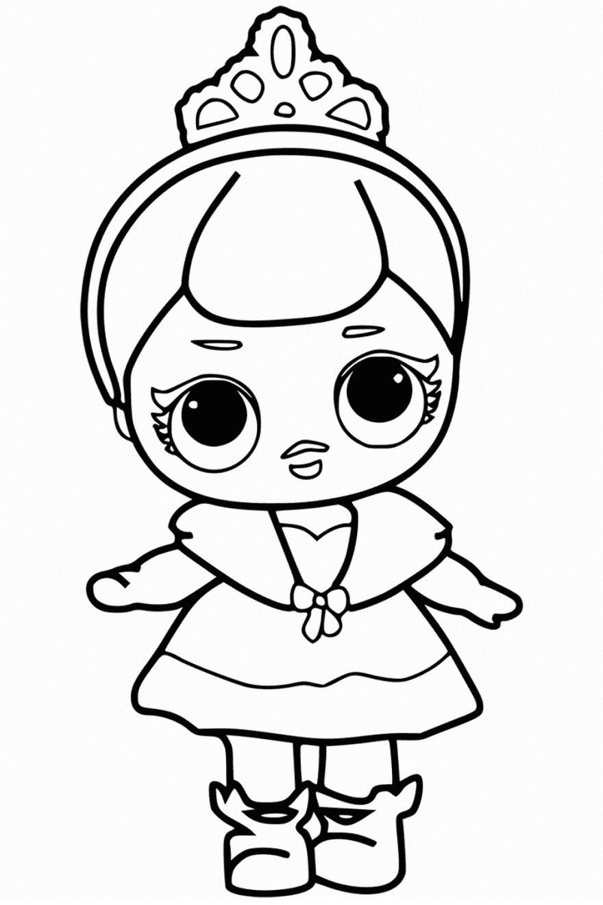 """""""Кукла ЛОЛ"""" раскраски для детей. Скачать и распечатать ..."""