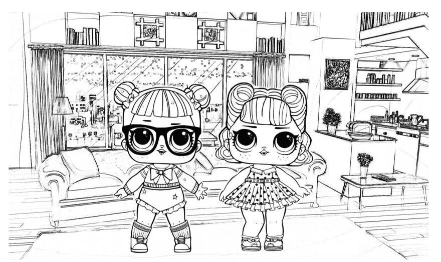 Картинки раскраски куклы ЛОЛ для девочек