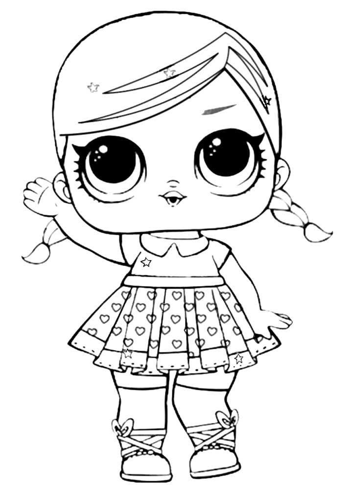 Раскраска кукла для девочек