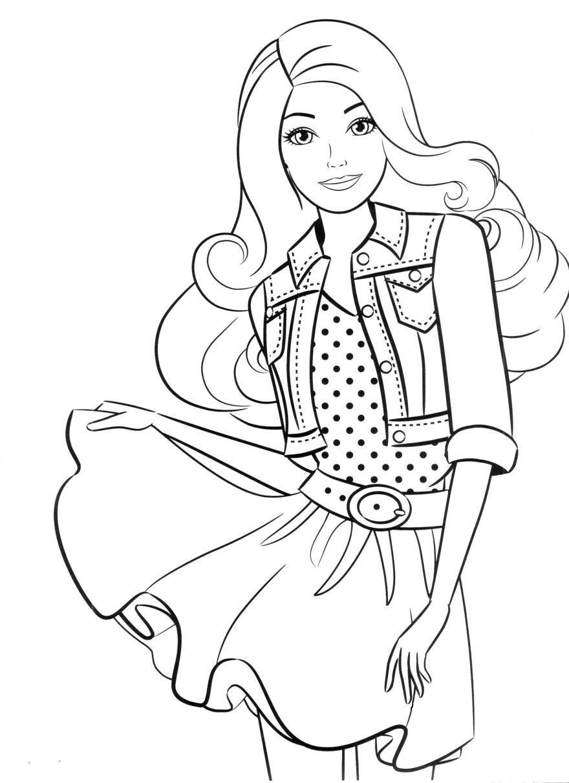 """""""Барби"""" раскраски для девочек. Скачать и распечатать бесплатно"""