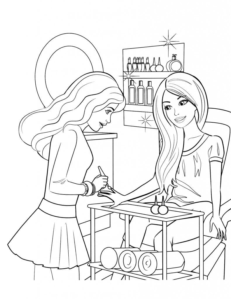 Раскраска Барби для девочек