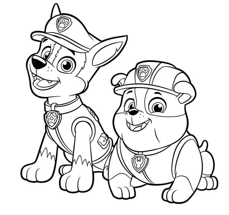 Раскраска патруль для детей