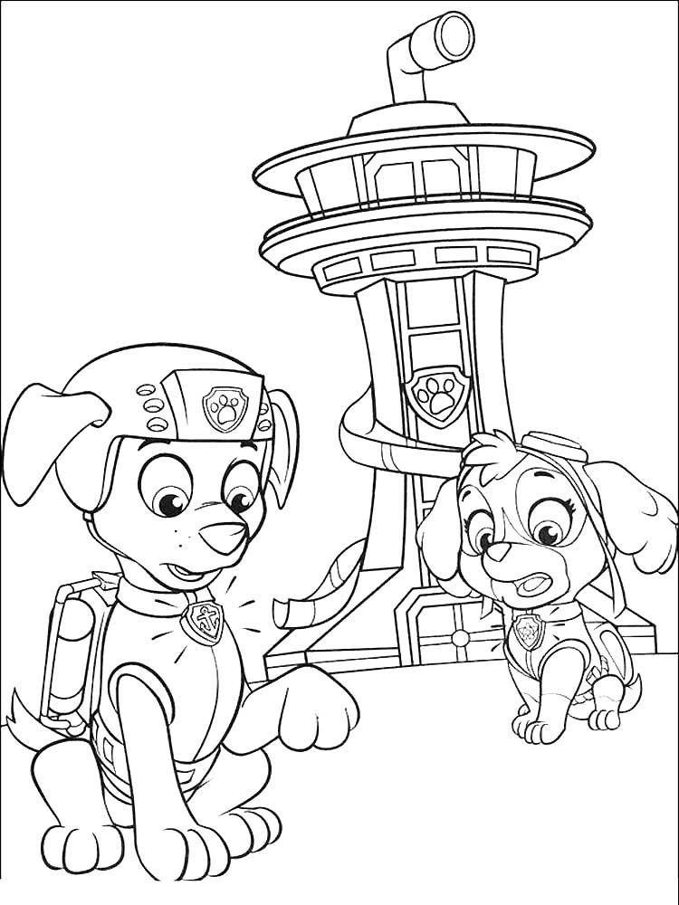 Раскраска для детей - щенячий патруль