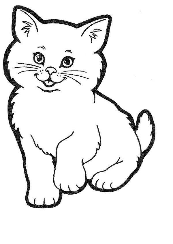 Раскраска кот для детей