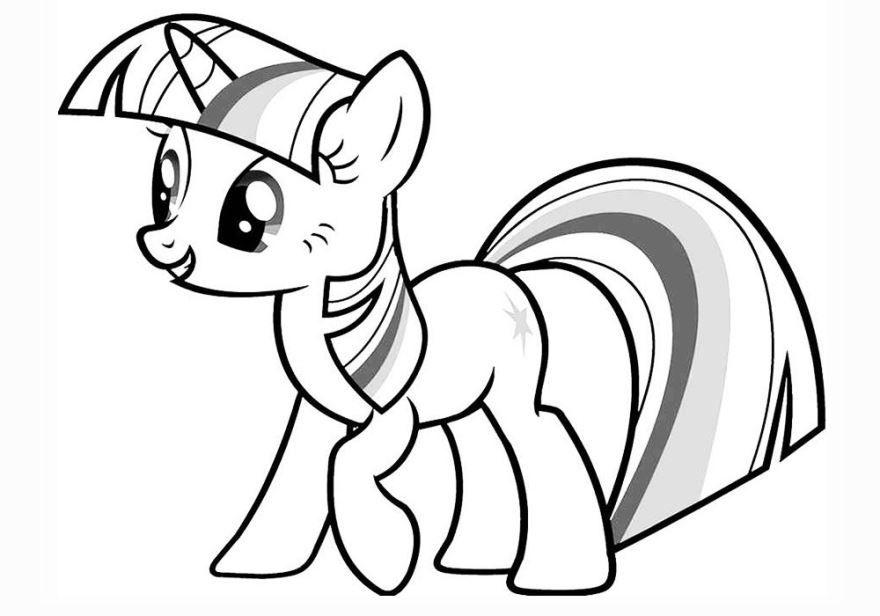 Раскраска пони для детей