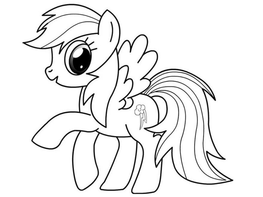 Распечатать раскраску пони, бесплатно